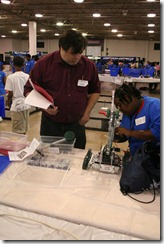 This is me, chatting with one of the students as part of our judging. My judging partner took the pictures.