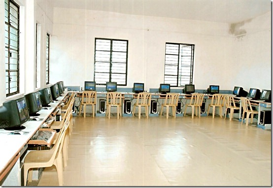 "Computer lab from Ajitdada Pawar College of Edu. That's what the website says, ""Edu"", not ""Education"". Go figure."