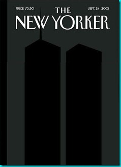 This was the cover of the New Yorker, 9/24/01. I still have a copy somewhere. The original doesn't have this much contrast between the foreground and background.