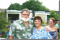 My mom and dad together, about two years ago. It's the last time they saw each other. That's my late friend Aime to the right.
